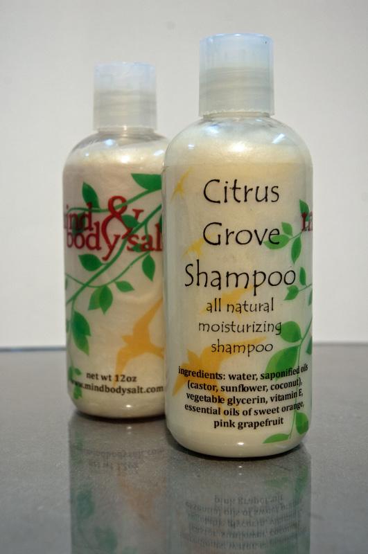 12 ounce bottle of Citrus Grove Shampoo