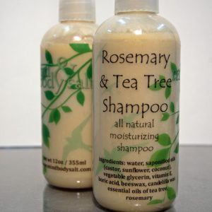 12 ounce bottle of Rosemary & Tea Tree Shampoo
