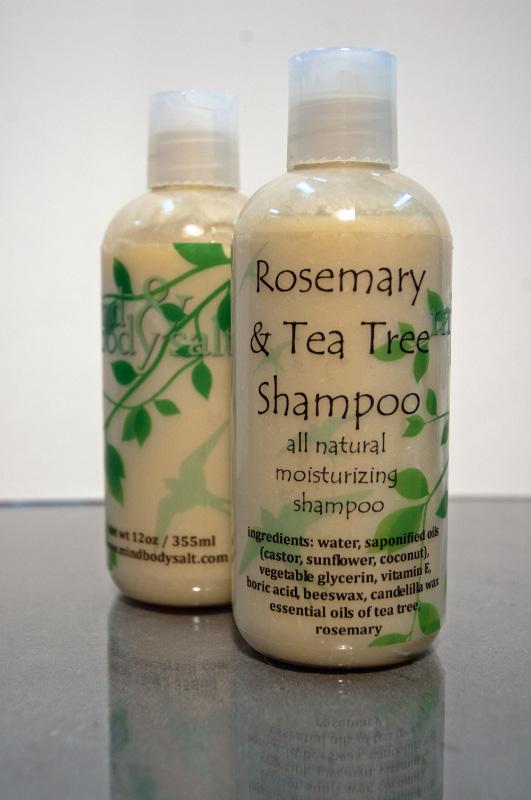 12 ounce bottle of Rosemary & Tea Tree Shampoo
