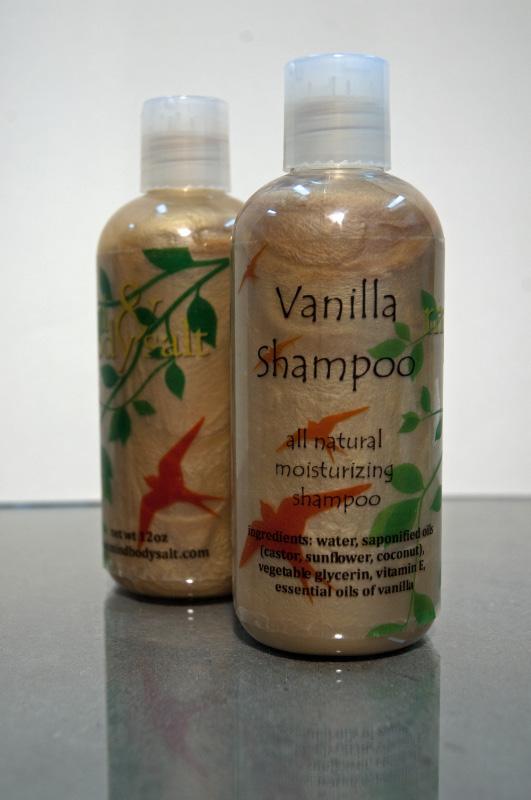 12 ounce bottle of Vanilla Shampoo