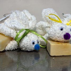 terry cloth bunny scrub a Lovey