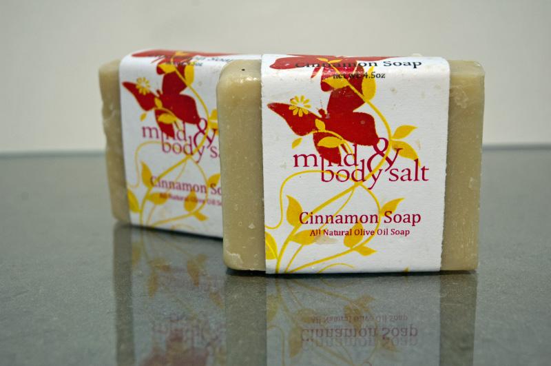 4.5 ounce bar of Cinnamon Soap