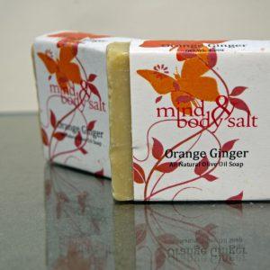 4.5 ounce bar of Orange Ginger Soap