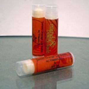 0.15 ounce tube of Sweet Orange Lip Balm