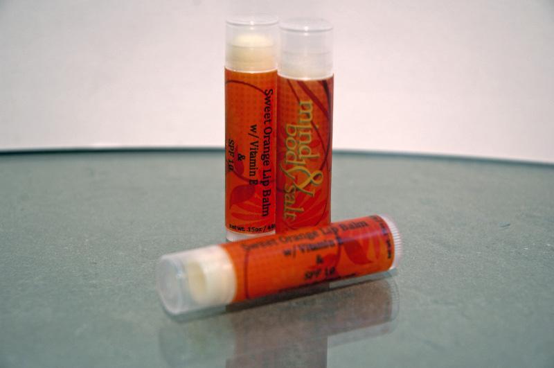 0.15 ounce tube of Sweet Orange Lip Balm