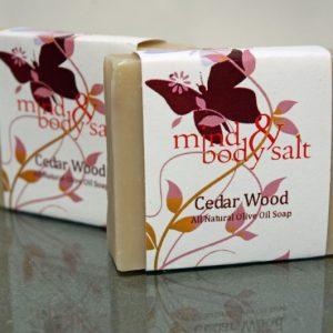 4.5 ounce bar of Cedar Wood Soap