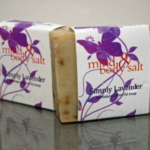 4.5 ounce bar of Simply Lavender Soap