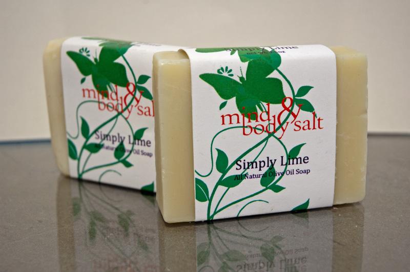 4.5 ounce bar of Simply Lime Soap