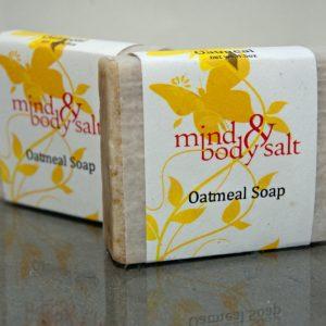 4.5 ounce bar of Oatmeal Soap