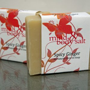 4.5 ounce bar of Spicy Ginger Soap