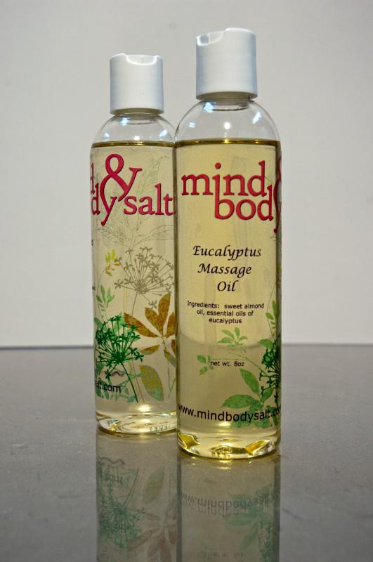8 ounce bottle of Eucalyptus Massage Oil