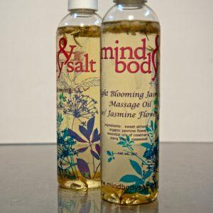 8 ounce bottle of Night-Blooming Jasmine Massage Oil