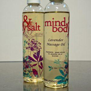 8 ounce bottle of Lavender Massage Oil