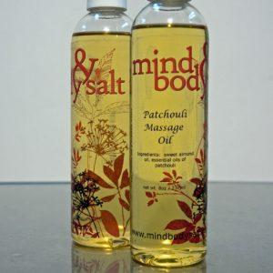 8 ounce bottle of Patchouli Massage Oil